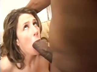 Mature woman takes monster cock with gigantic cum in mouth