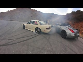 Japanese 240sx gets punished in public