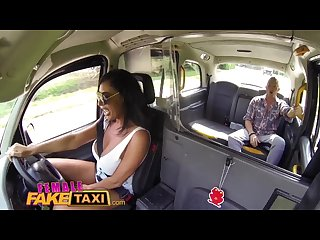 Female fake taxi big tits brit Ava koxxx swallows cock balls on backseat
