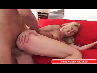 Blonde loves getting fucked hard in her pussy mouth and ass
