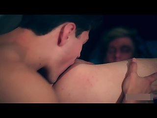 Blond Twink loves taking muscle stud s big cock