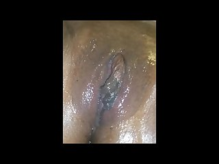Look at my beautiful wet pussy up real close wanna taste