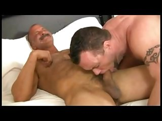 Dad and son wake up sex
