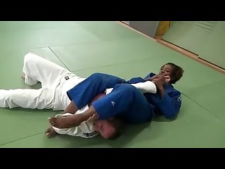 French Black Hottie in Mixed Judo