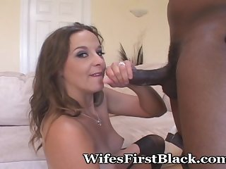 Babe works his cock like a pro