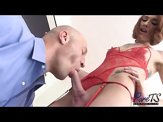 Big dick amazon amateur ts model gets fucked