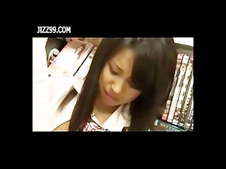 Schoolgirl staff fucked in comic book shop when in working 02