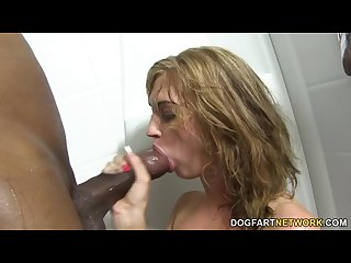 Alana rains first interracial anal scene