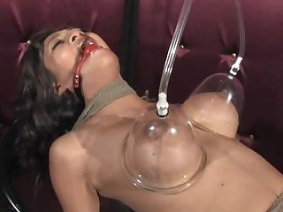Bondage and fucking machine
