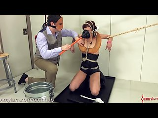 Dominatrix turned into toilet then assfucked and fed cum
