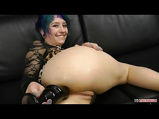 Glass Buttplug gaping anal sex hd