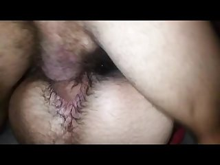 Hairy ass bottom takes some loads