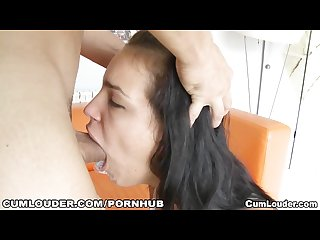 Busty slut sucks and fucks a huge cock