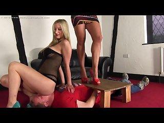 2 mistresses smothering ballbusting