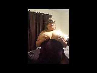 Pov horny bbw housewife rides dildo while hubby watches from work