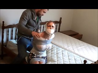 Blonde milf tightly taped