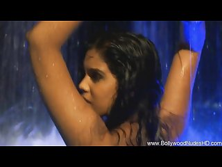 Bollywood babe cleansing herself