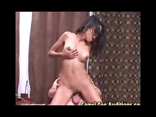 Beautifull black halfbreed zeina cameltoe auditions 2