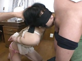 Two asian master use and bound sex slave girl