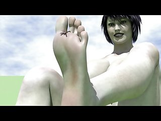 Dreamland animation Part3 Giantess feet play