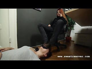 Goddess Victoria s office foot worship