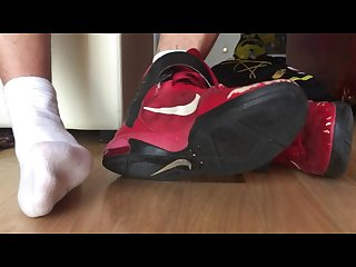 Young master verbal with sweaty smelly nike shoes and socks foot fetish