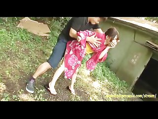 Jav japanese deep throat rough sex ambush facefuck asian outdoor public pee