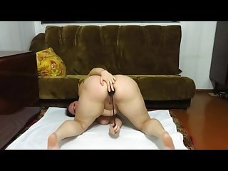 Anal with toy mature aunt