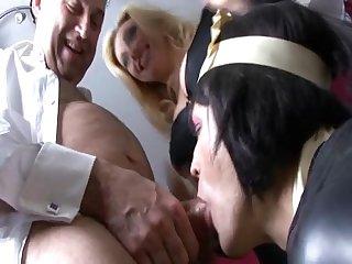 Slutty sissy maid blowjob