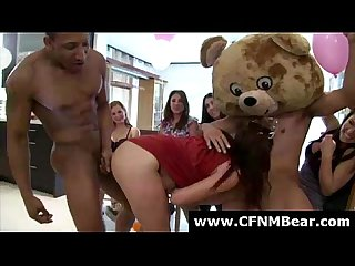 Cfnm amateurs love sucking stripper cock