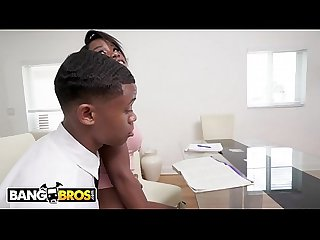BANGBROS - Lil D Fucks His Tutor Mya Mays In Front Of His Mom! WTF