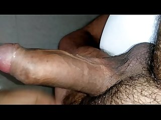 Indian guy cumming in office bathroom