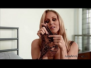 Julia ann teases with pantyhose lingerie