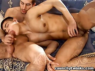 Cute Hunk Gets His Tight Ass Bareback Fucked