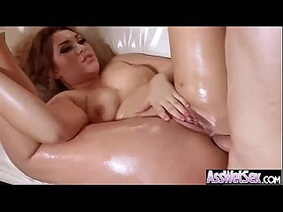Anal hard intercorse on cam with gorgeous big round ass oiled girl klara gold video 17