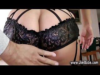 Sexy lingerie slut poses