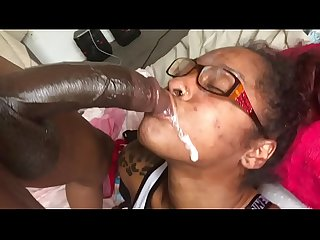 18 Year Old Ebony Thot! Gets A Facial! & Squirts!