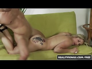 Busty blonde dayna vendetta takes it like a champ for her first porn shoot reality kings