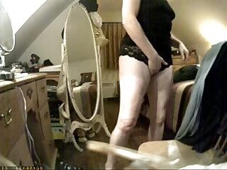 Have a look of huge clit of my mom hidden cam