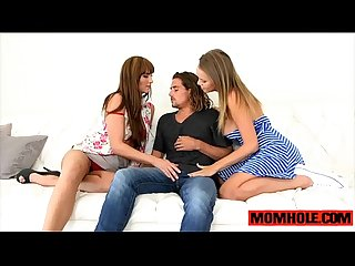 Awesome threesome action with teen alexis adams and milf bianca breeze