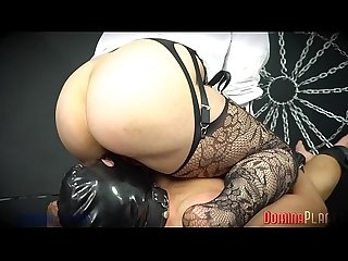 Chocolate Cream Shart Cleaner - Gorgeous, thick Dominatrix Forces Slave To Clean Her Shart..