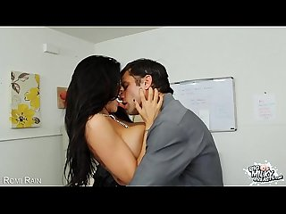 Big breasted Romi Rain riding a large cock