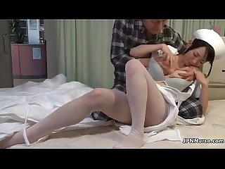 Cute japanese nurse loves having sex