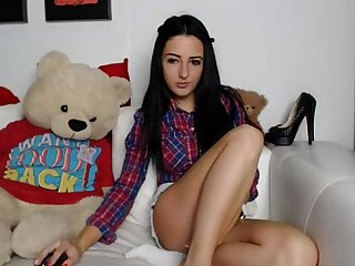 Black haired teen with tight shorts on basedcams period com