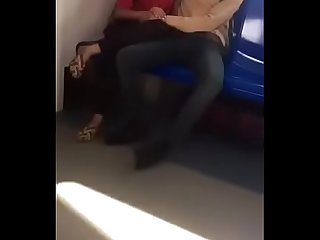 Desi collage lover kissing on metro