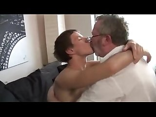 Daddy and his son play on playstation or hard fucking
