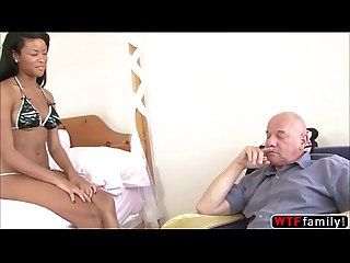 Ebony babe rihanna rimes is super horny and gets fucked by her stepdad