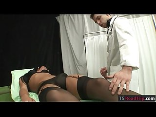 Small tits tranny analyzed by a doctor