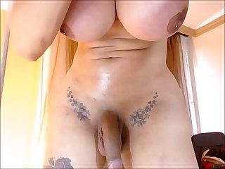 Milf shemale with big tits cumming