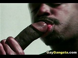 Hot black gay gangsta do anal fucking outdoor